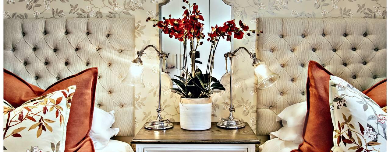 Pop of red Classic style bedroom by Joseph Avnon Interiors Classic