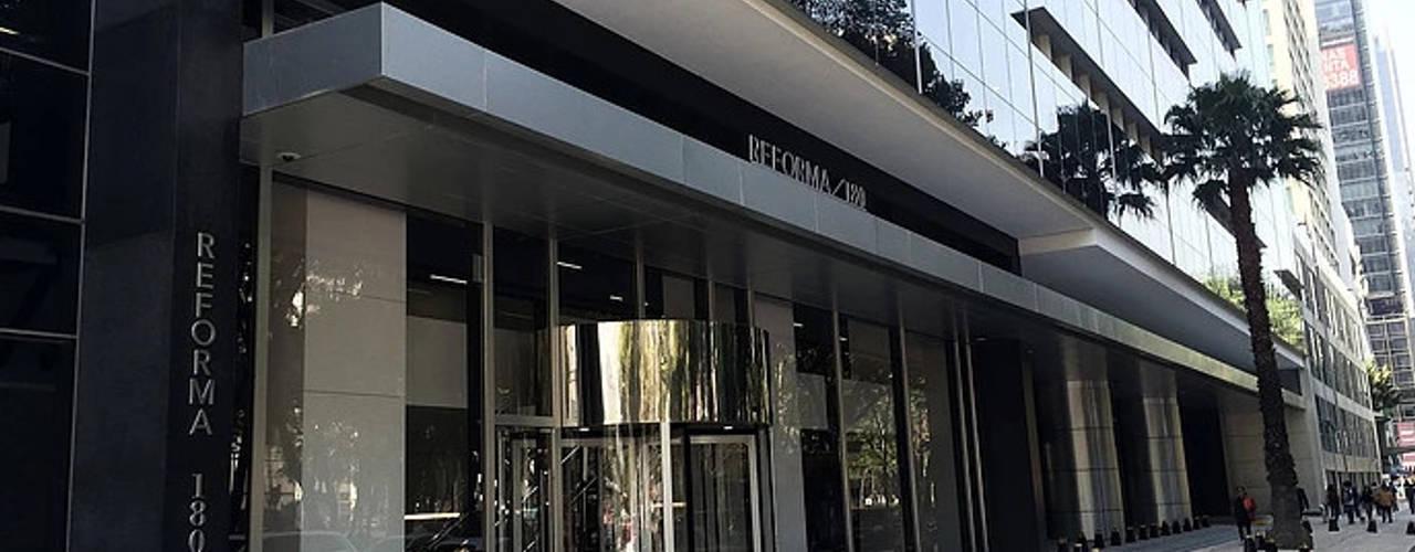 Lobby Reforma 180 Estudios y despachos modernos de BODIN BODIN ARQUITECTOS Moderno