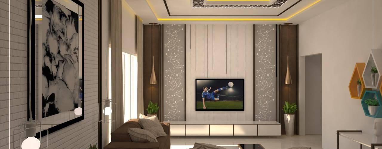 3BHK Residential Interior in Bangalore:   by Vadhia Interiors Pvt Ltd
