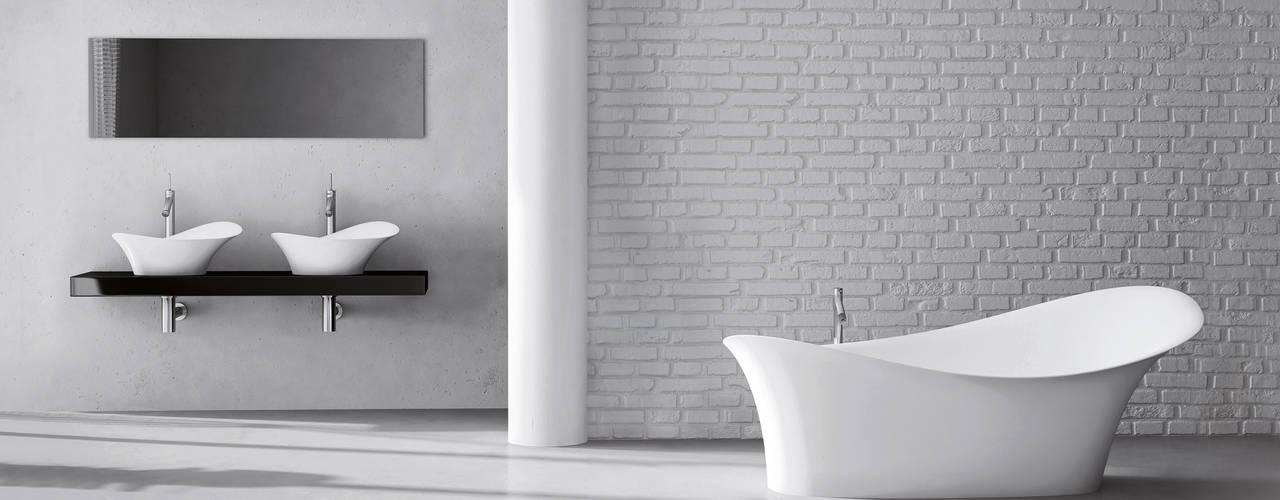 Kollektion Gaudi– Freistehende Badewanne und Waschtische aus Mineralguss Moderne Badezimmer von ZICCO GmbH - Waschbecken und Badewannen in Blankenfelde-Mahlow Modern