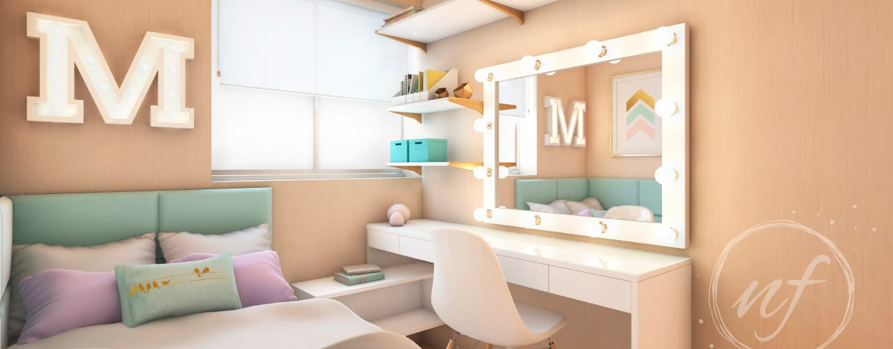 Phòng ngủ nhỏ by NF Diseño de Interiores