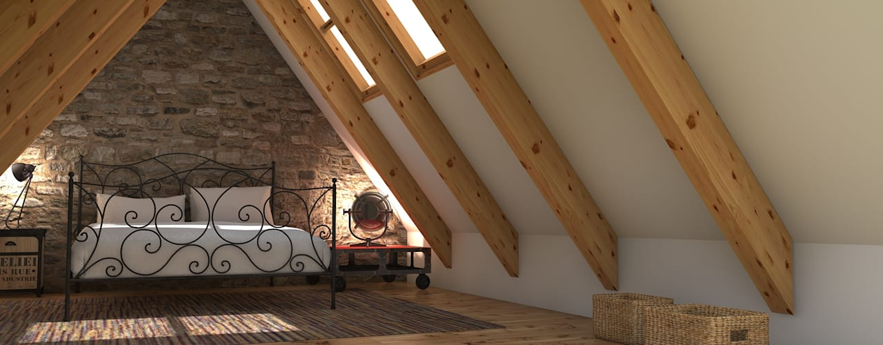 Blophome Rustic style bedroom