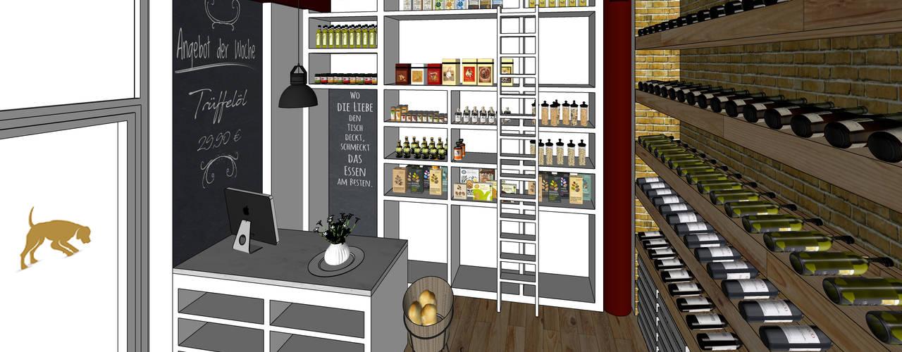 Konzeptarbeit - Trüffelstore Ladengeschäft von Kaldma Interiors - Interior Design aus Karlsruhe