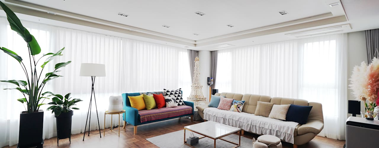 Eclectic style living room by 디자인 아버 Eclectic