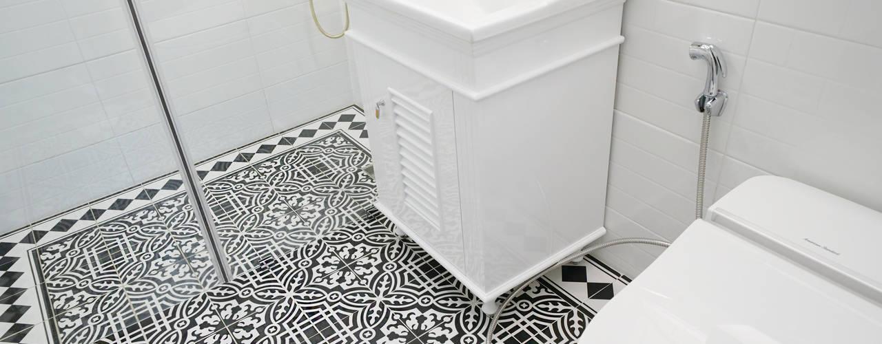 컬러풀 뉴트로하우스: 디자인 아버의  욕실