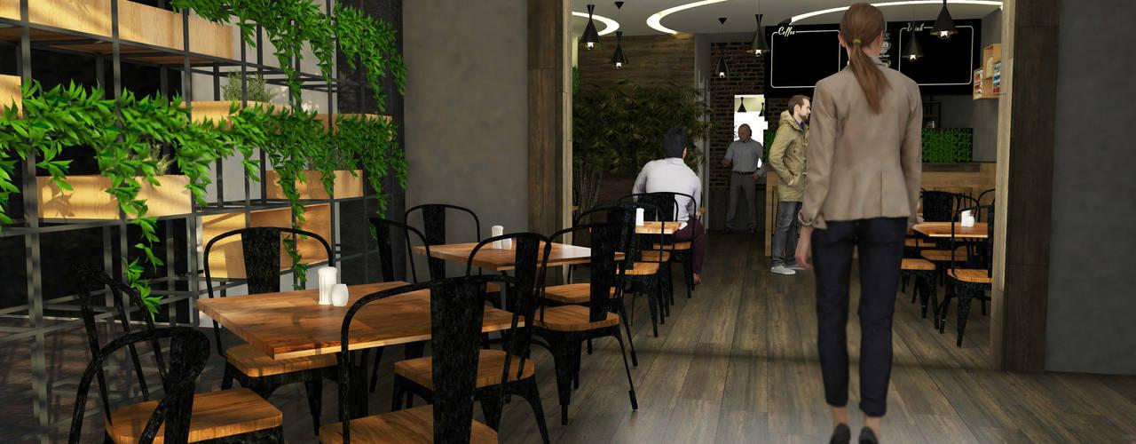 Cafeteria La bendición : Comedores de estilo  por GT-R Arquitectos
