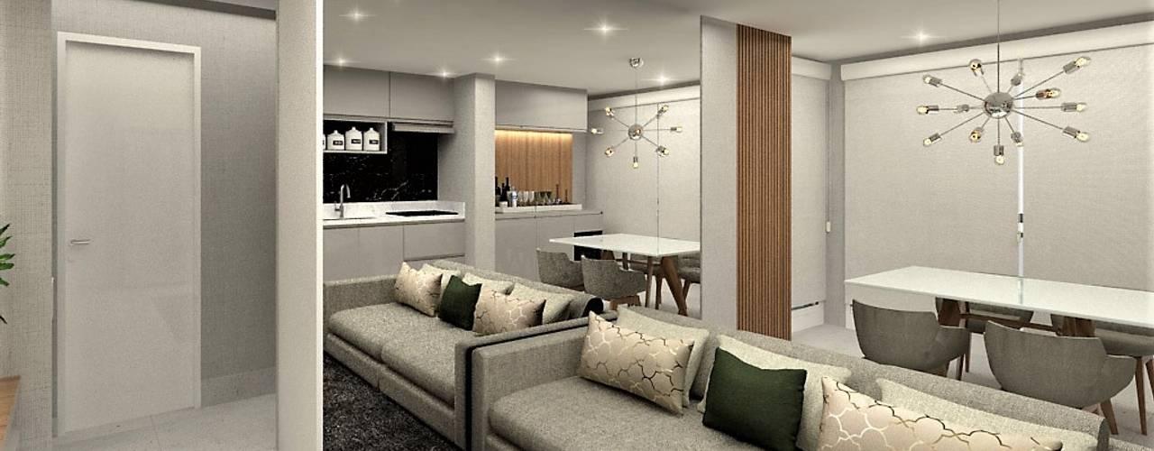 Apartamento Morumbi - 40m2: Salas de estar  por Vilaville