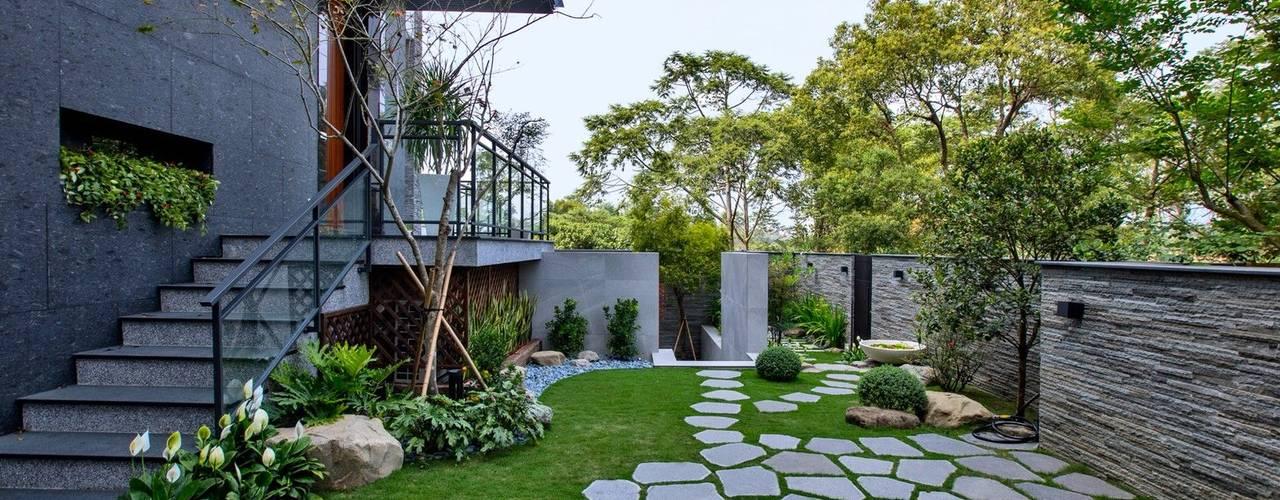 Jardines minimalistas de Zendo 深度空間設計 Minimalista