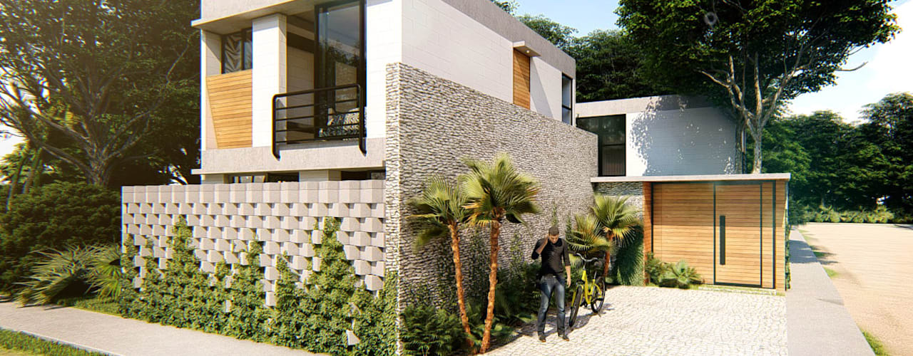 Country house by Indigo Diseño y Arquitectura, Tropical