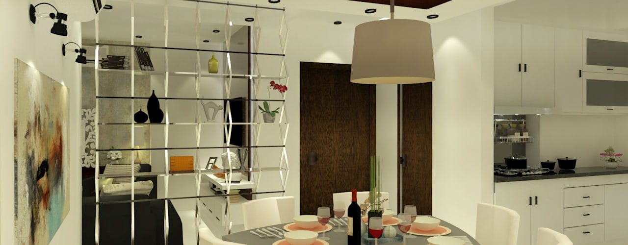 Apartment Interiors Modern dining room by Inaraa Designs Modern