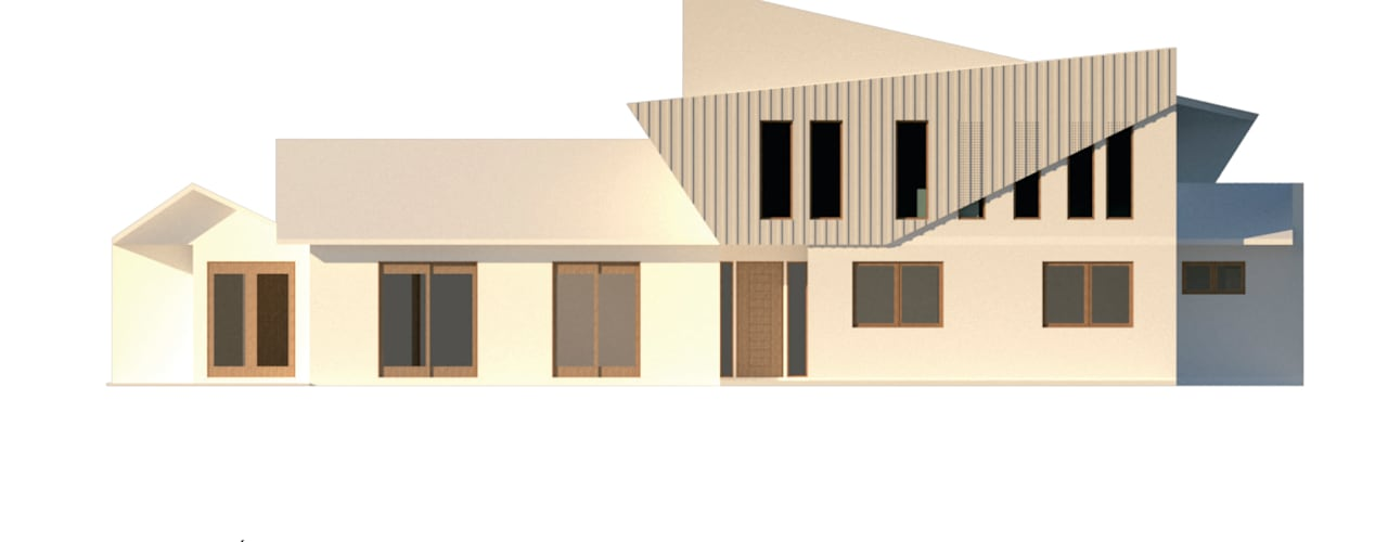 Ampliación Vivienda Unifamiliar en construcción, La Reina, Santiago de Latitud Sur Moderno