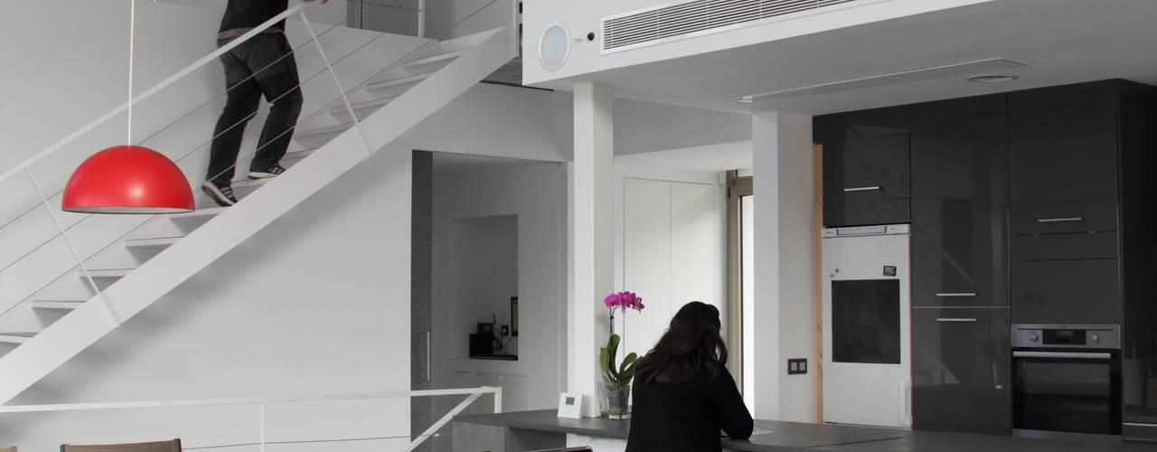 Projekty,  Salon zaprojektowane przez Estudio1403, COOP.V. Arquitectos en Valencia, Nowoczesny