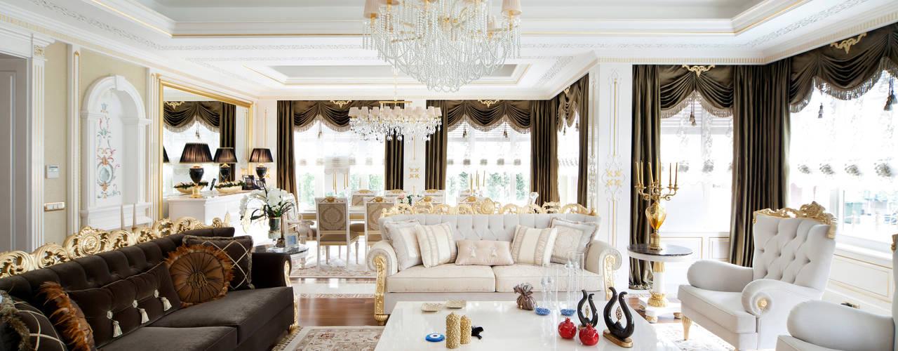 Bosphorus City Villa - Istanbul / Turkey Classic style living room by Sia Moore Archıtecture Interıor Desıgn Classic