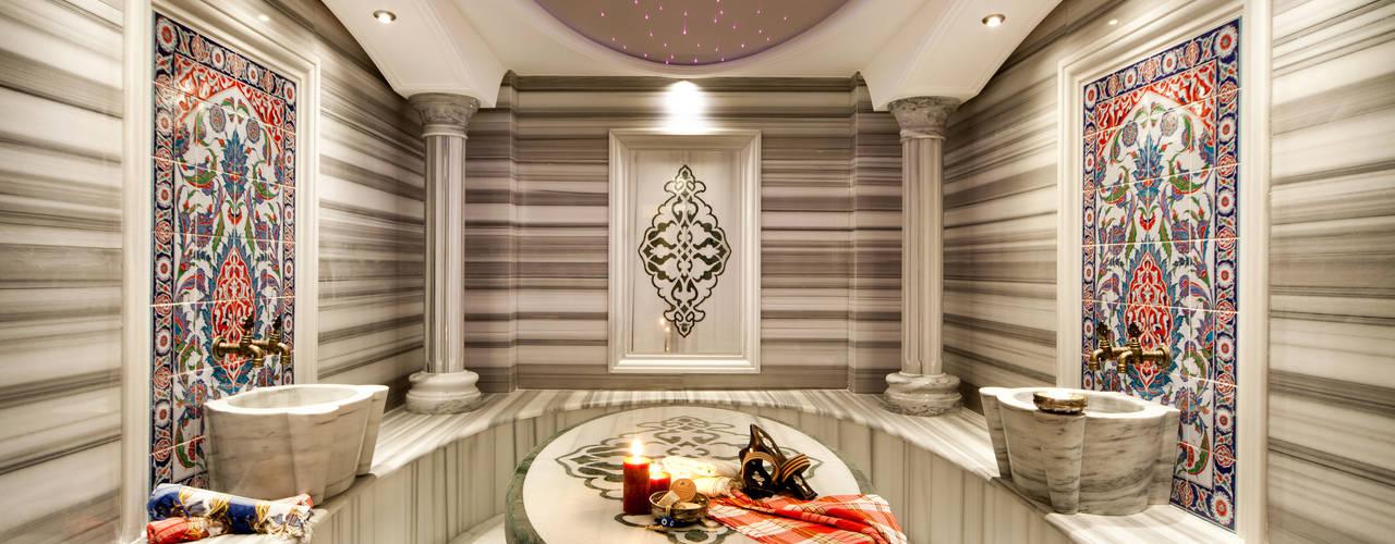 Sia Moore Archıtecture Interıor Desıgn – Bosphorus City Villa - İstanbul / Türkiye :  tarz Hamam,