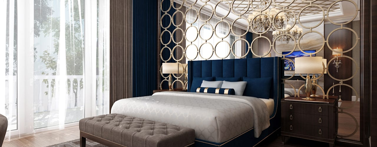 Sitak Villa - Suleymaniyah / Iraq Sia Moore Archıtecture Interıor Desıgn Small bedroom Solid Wood Blue