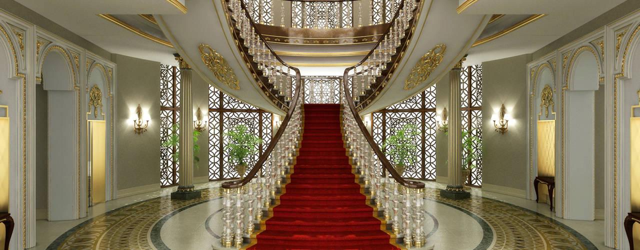 Pearl Palace - Doha / Qatar راهرو سبک کلاسیک، راهرو و پله من Sia Moore Archıtecture Interıor Desıgn كلاسيكي