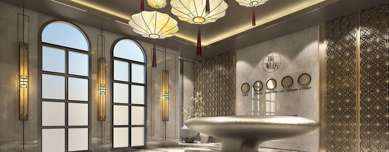 林口區飯店式管理住宅全案設計 / 建築外觀與室內設計(歐式混搭中式):   by 雲展建築設計 Winstarts Architectural Design Group