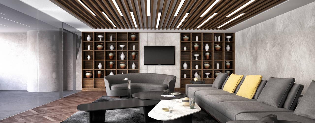 Minimalismo Design – İstanbul Havalimanı Yönetim Katı :  tarz Çalışma Odası,