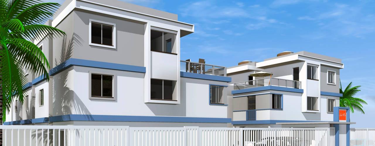 Condomínio de residências triplex : Vilas  por ARQ-PB Arquitetura e Construção,Moderno
