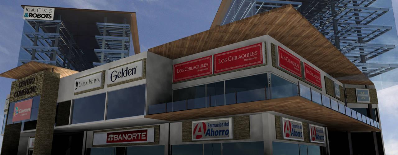 Centro comercial y Estacionamiento robotizado Centros comerciales de estilo industrial de Helicoide Estudio de Arquitectura Industrial