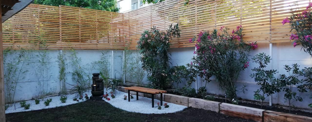 DISEÑO JARDÍN-PAISAJISMO EN SANTIAGO Jardines de estilo minimalista de HZ ARQUITECTOS SANTIAGO DISEÑO COCINAS JARDINES PAISAJISMO REMODELACIONES OBRA Minimalista