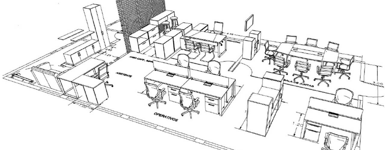 Proyecto Oficinas Polanco CDMX Estudios y despachos modernos de GREAT+MINI Moderno