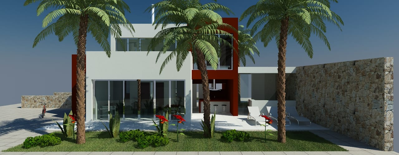 Haciendas de estilo  por MEF Architect
