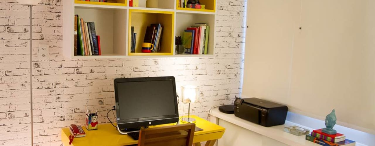 Decoração de Home Office por Izabella Biancardine Interiores Moderno