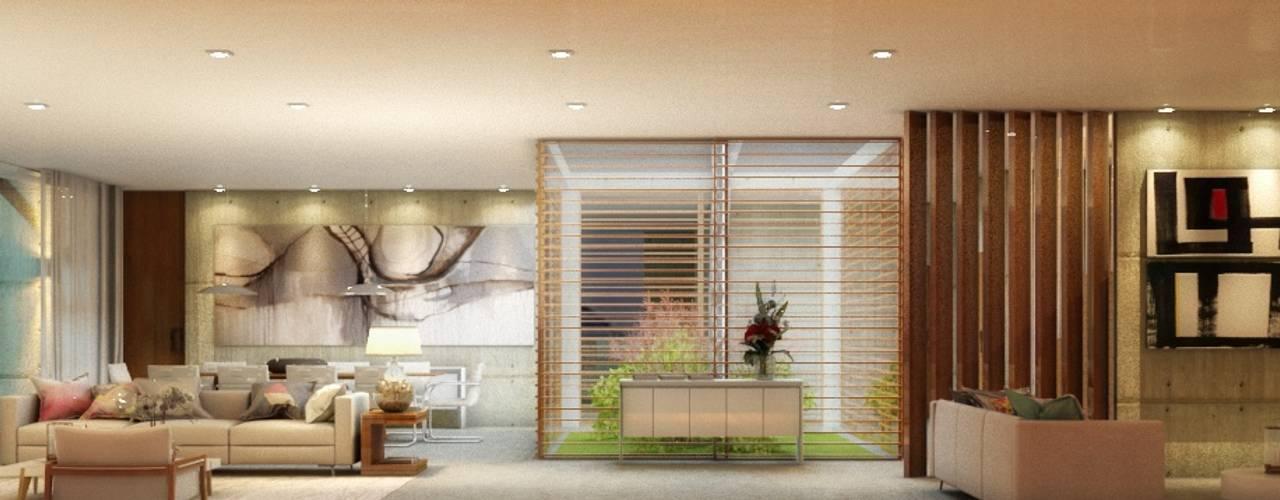 Salones de estilo  de Viviane Cunha Arquitetura