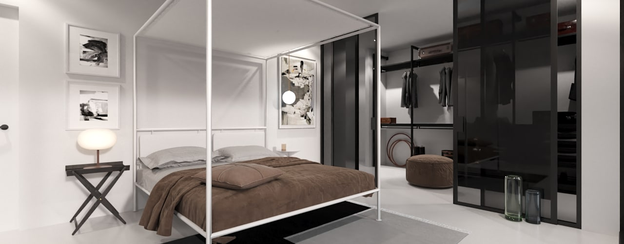 Modern style bedroom by Nuno Ladeiro, Arquitetura e Design Modern