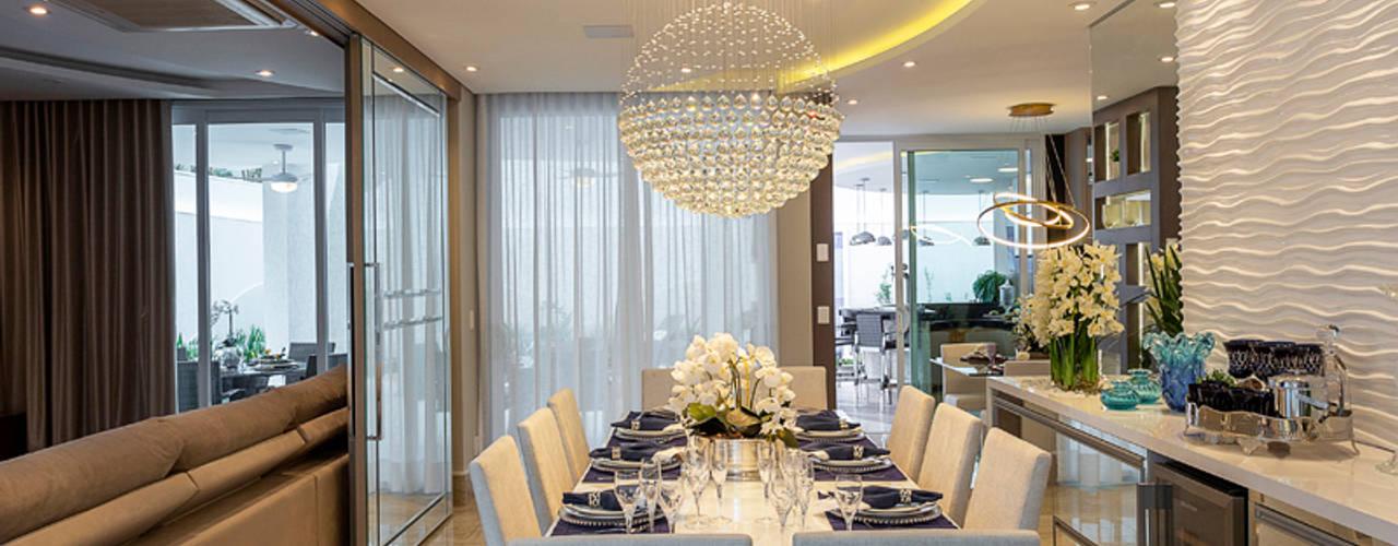 Casa Esplêndida Designer de Interiores e Paisagista Iara Kílaris Salas de jantar modernas
