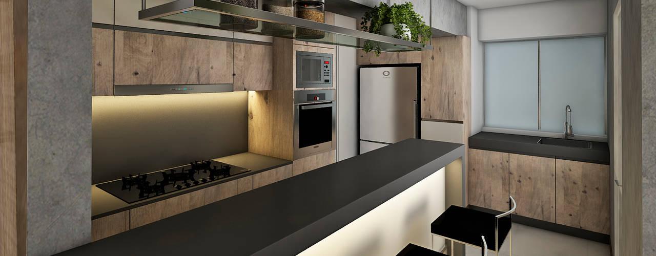 Proyecto de diseño integral- Ambientes Sala, Comedor,Cocina. Vanessa Parodi diseño y decoracion