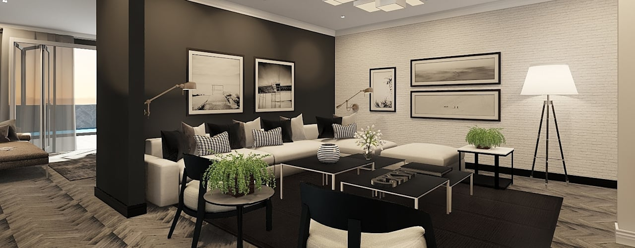 Sandton Penthouse Interior Design & Architecture Modern living room by CKW Lifestyle Associates PTY Ltd Modern