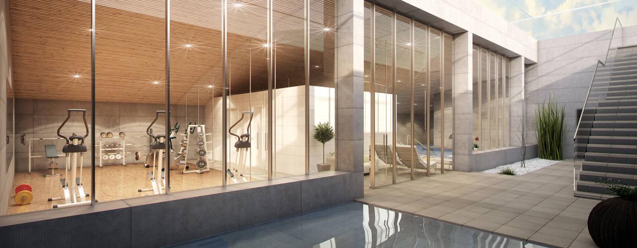 Especialistas en Renders 3D y en Infografía 3D en Madrid Infografias 3D y Renders 3D Madrid Casas de estilo moderno