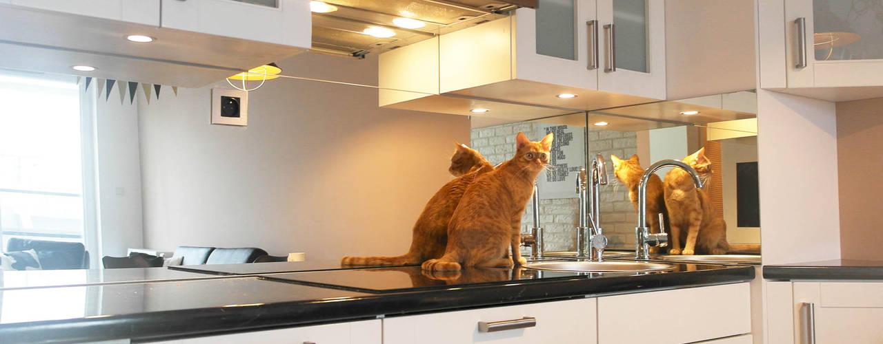 Lustro w kuchni od Moje Szkło Nowoczesny