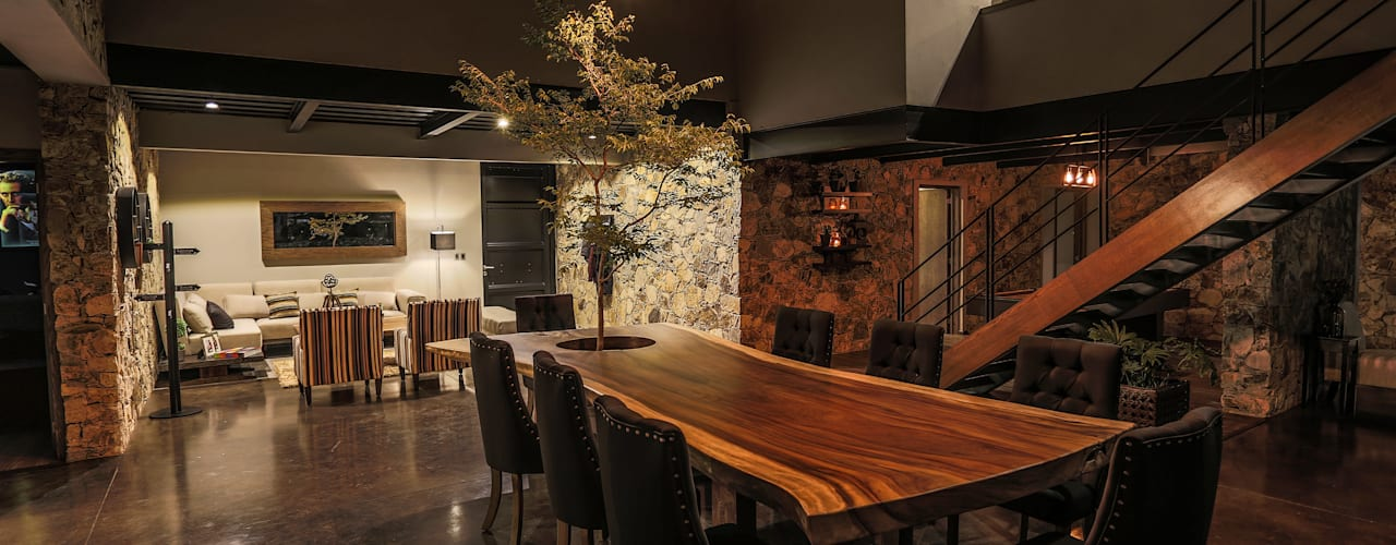 Modern dining room by Con Contenedores S.A. de C.V. Modern