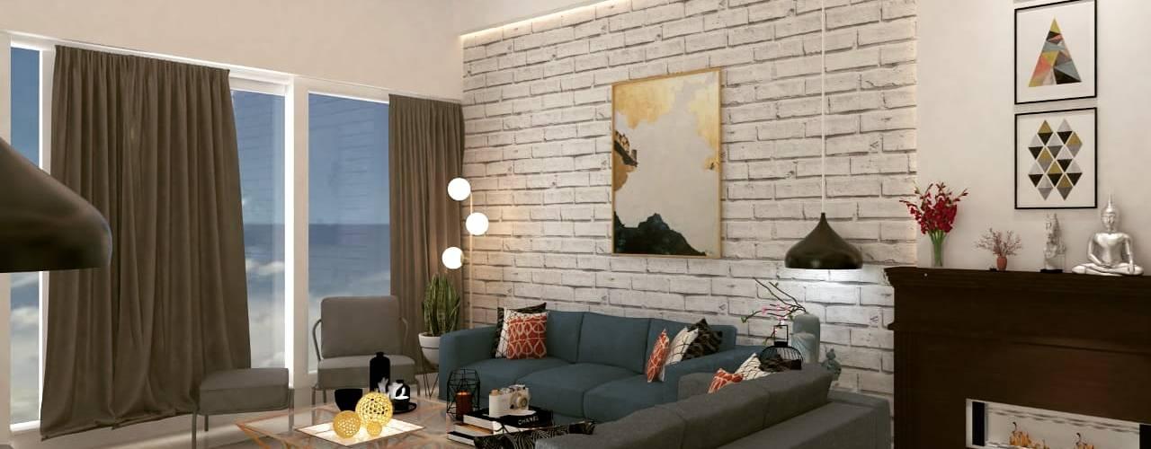 Renovation:  Living room by Maayish Architects,