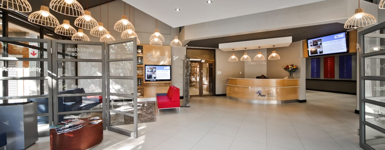 Before & After - Interior Upgrade of The National Research Foundation, Pretoria by Nuclei Lifestyle Design Modern