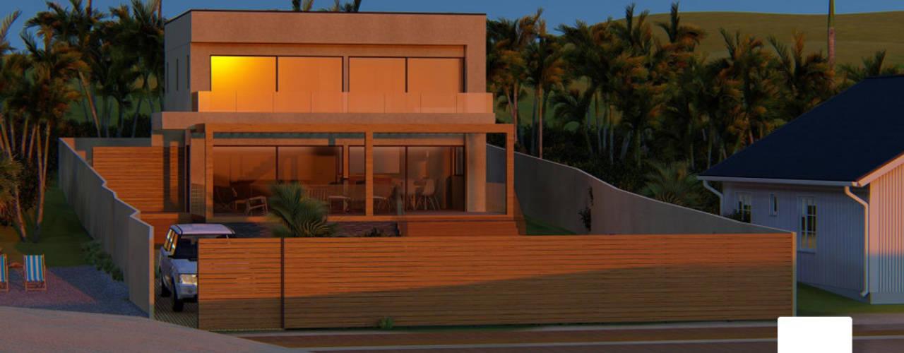 Diseño de Cabaña NAVARINO en el balneario Guanaqueros en Coquimbo: Cabañas de estilo  por Territorio Arquitectura y Construccion - La Serena