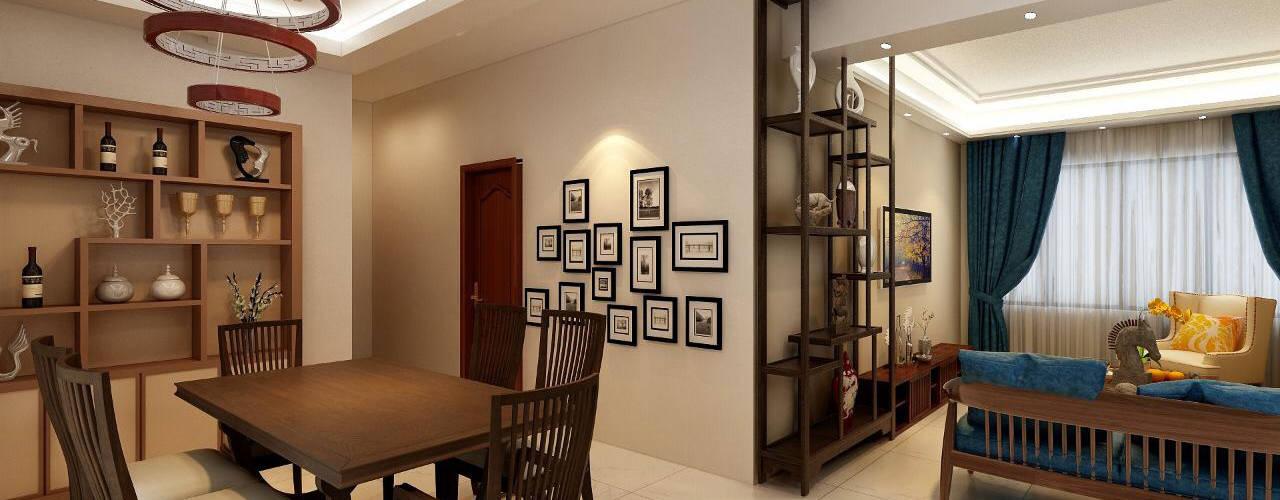 MASTER BEDROOM + LIVING AREA DESIGN :  Living room by Matter Of Space Pvt. Ltd.,
