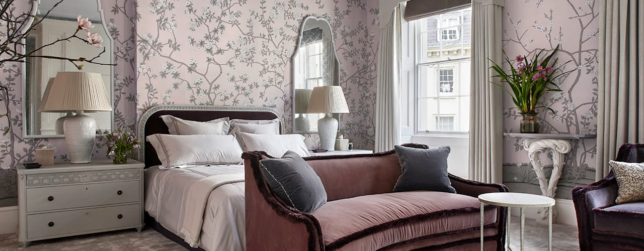 Belgravia Town House Stahovski Designs Small bedroom