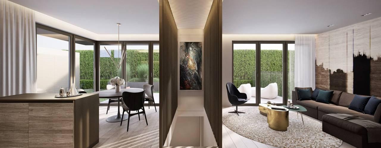 Dormitorios de estilo ecléctico de De Stefano Disegno Ecléctico