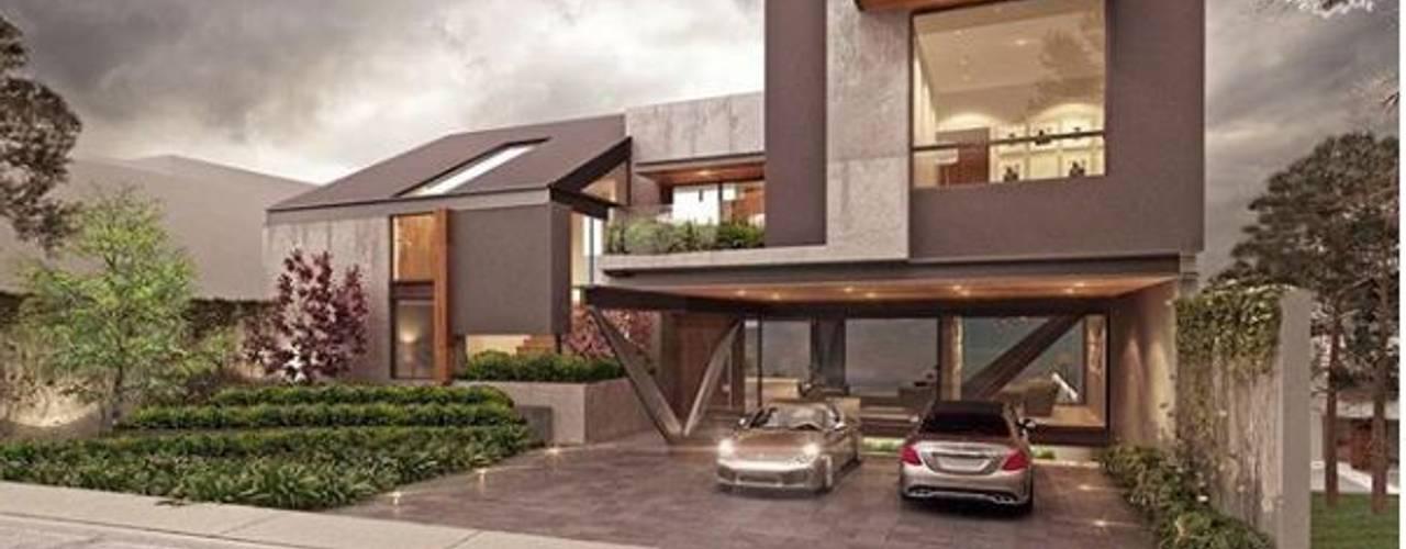 Bugambilias : Casas multifamiliares de estilo  por EBA Architecture & Desing