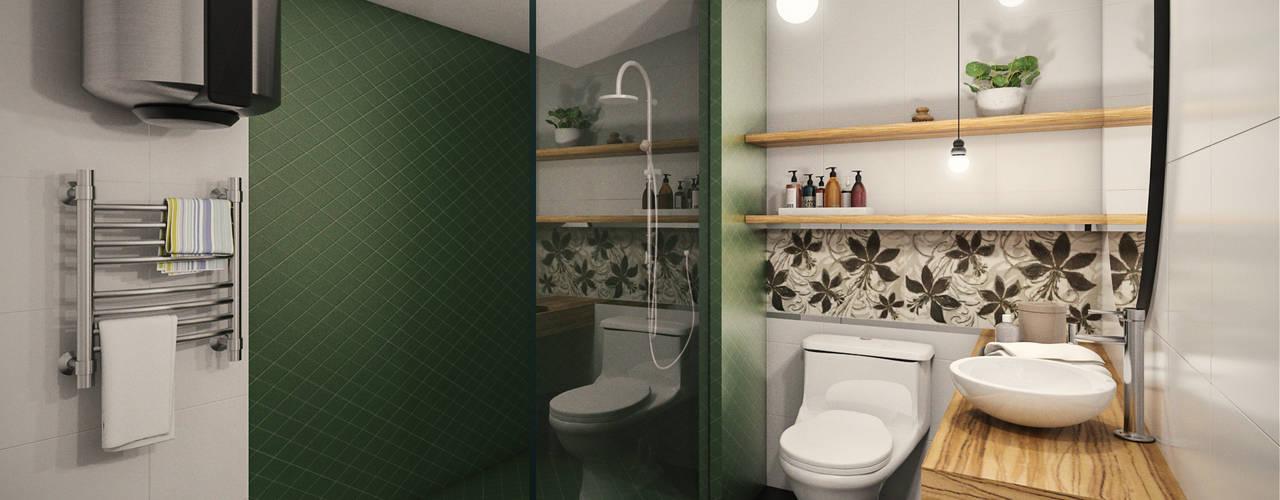 VIVIENDA FQ Baños modernos de PAR Arquitectos Moderno