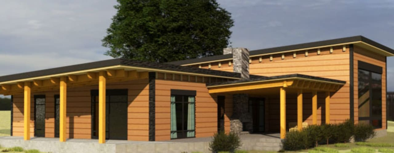 منزل خشبي تنفيذ CEC Espinoza y Canales LTDA,