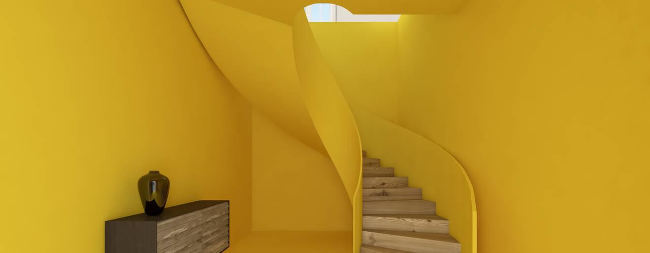 martimsousaemelo Minimalist corridor, hallway & stairs Yellow