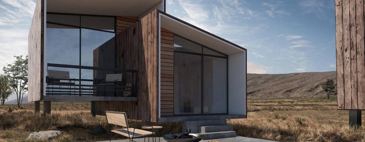 Ecolofts Tequis: Casas ecológicas de estilo  por Diamante Arquitectura,