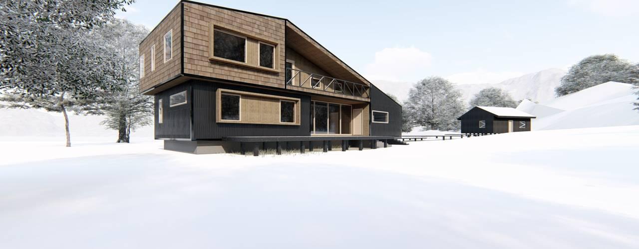 Diseño de Casa Rural en Coyhaique de casa rural - Arquitectos en Coyhaique Rural