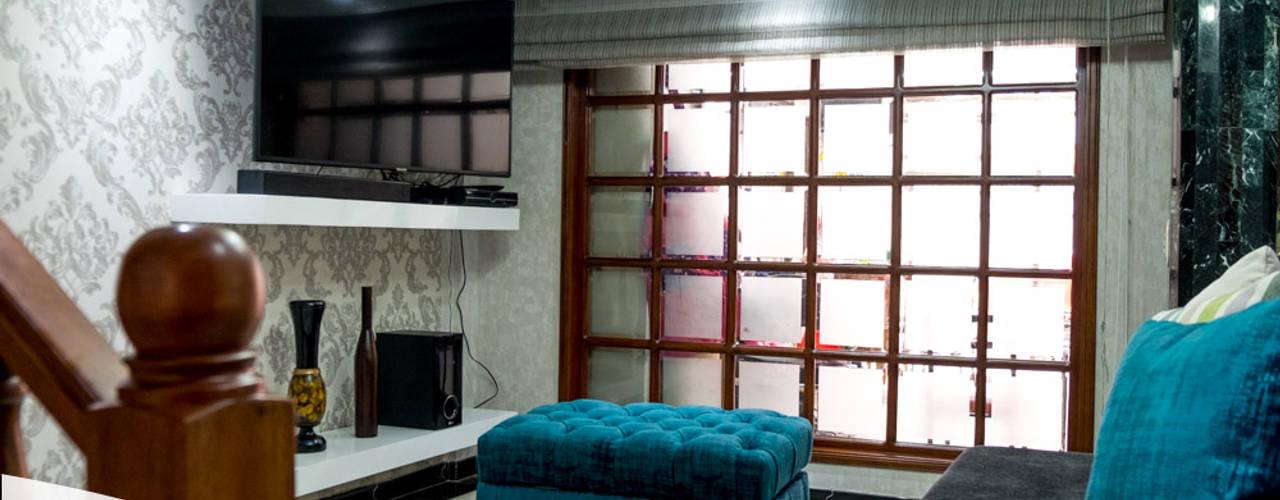 Proyecto vivienda. Remodelación de espacios Asesoría y elaboración de mobiliario:  de estilo industrial por KAYROS ARQUITECTURA DISEÑO INTERIOR, Industrial