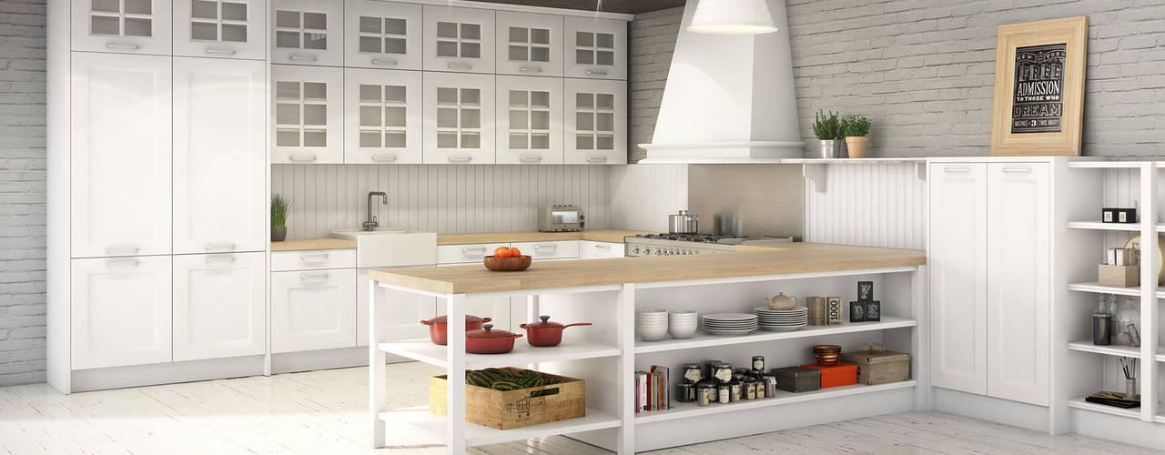 Cocinas de estilo  por Infografias 3D y Renders 3D Madrid, Mediterráneo